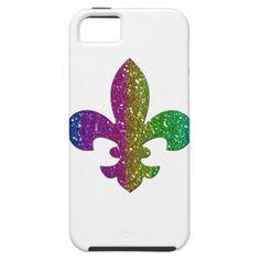 Fleur De Lis Glitter Multi color iPhone cover plus numerous other items.