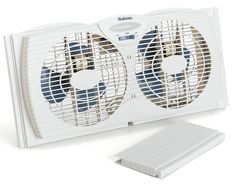 Designed to fit most double-hung and slider windows. Water-resistant motors are safe to use during rainy weather. Designed to fit most double-hung and slider windows, Ideal for large rooms. Designed to fit most double hung and slider windows. Window Fans, Slider Window, Bathroom Exhaust Fan, Portable Fan, Best Windows, Windows 1, Amazing Bathrooms, Twins, Household
