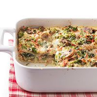 This delicious white lasagna is packed with vegetables, keeping it healthy and making it a hearty vegetarian meal. Using no-boil pasta noodles helps cut down on preparation time.