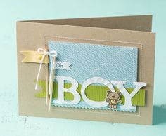 Baby boy card from the Stampin' UP! website