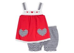 First Impressions Baby Girls' 2-Piece Eyelet Tunic &  Bloomer Shorts 3-6M, 24M #FirstImpressions #Everyday