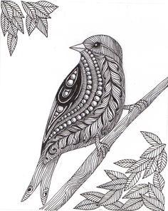 zentangle birds - Google Search