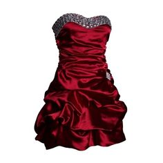 Ruffled Burgundy Short Prom Dress   Puff Ball Dresses   Burgundy Dress ❤ liked on Polyvore featuring dresses, short dresses, red, vestidos, short party dresses, red formal dresses, short red dress, short red cocktail dress and cocktail party dress
