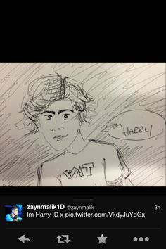 Sketch of Harry by Zayn