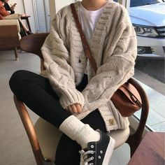 comfortable winter outfits ideas to inspire you 21 ~ my.me comfortable winter outfits ideas . Indie Outfits, Korean Outfits, Cute Casual Outfits, Fashion Outfits, Casual Clothes, Travel Outfits, Fashion Clothes, Korean Winter Outfits, Indie Clothes
