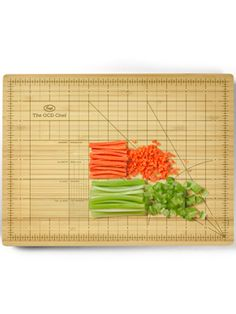 Such a cool cutting board that helps you chop your veggies a certain length! for the quilter in me