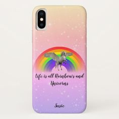 Life is all Rainbows and Unicorns Name iPhone Case