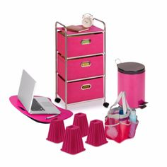College Dorm Room Supplies Accessories Survival Kit Bundles For Girls Pink Decor…