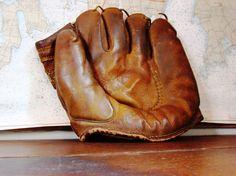 vintage baseball glove  Rawlings Baseball by PerfectHomeAntiques