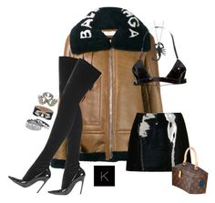 """Untitled #3921"" by kimberlythestylist ❤ liked on Polyvore featuring Balenciaga, Emporio Armani, Polite and Eddie Borgo"