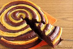 Torta girella al cioccolato e crema pasticcera