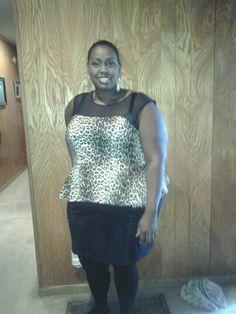 Leopard & black dress