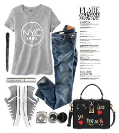 """street style"" by ecem1 ❤ liked on Polyvore featuring Old Navy, H&M, Converse, Dolce&Gabbana and Bobbi Brown Cosmetics"