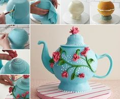 Try This Stunning Teapot Cake for a Tea Party