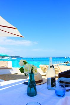 Beach side paradise in St. Tropez, France.