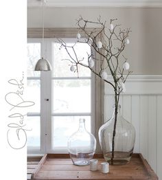egg tree with mossy branches || Made In Persbo: Glad Påsk!