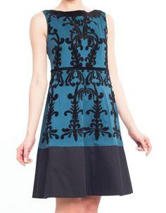 Velvet Patch Dress - Outlet - Niza