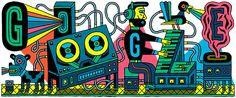 Doodle ehrt das erste moderne Tonstudio - LA+D Illustration- Google Doodles, Beats Studio, Famous Logos, Dj Music, Music Genre, Music Class, Recording Studio, Electronic Music, Famous Artists