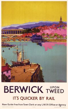 Artist Unknown - Berwick upon Tweed (Railway Poster)