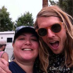 Selfie with Andrew Wessen of Grouplove. Coachella 2014