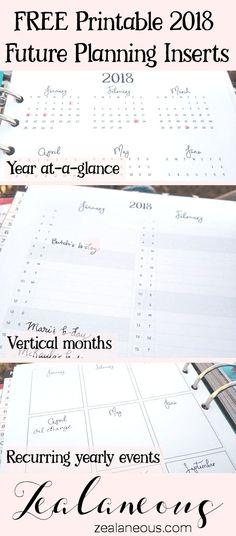 Free 2018 Future Planning Printable
