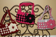 Mini purse/bag with strap. Crochet. Handmade. by TracyplusCrochet, $12.00