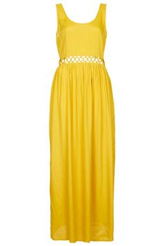 Lace Up Waist Maxi Dress by Topshop