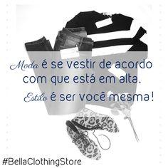 Mas afinal amiga, o que é moda e o que é estilo?  A moda é o que as grandes marcas propõem para a estação... Estilo é a maneira que você interpreta e usa essa moda!!!  Quer mais moda para impulsionar seu estilo? Corre pra Bella!!!  Enviamos pra todo o Brasil! WhatsApp: (12) 98125-8707.  Avenida São João, 644, São José dos Campos  Shopping Esplanada - sala 15  #moda #estilo #explicandoamoda #ootd #lookdodia #dicademoda #dicadeestilo #vocêmaisBella #BellaClothingStore