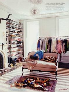 A room for all your shoes, purses, accessories, and clothes. Perfect.
