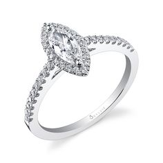 For the damsel who prefers delicate #jewelry without forfeiting style, Sylvie's Petite Collection features on-trend #engagementrings like the #marquis. Exquisitely unique and simple without the fuss. https://www.sylviecollection.com