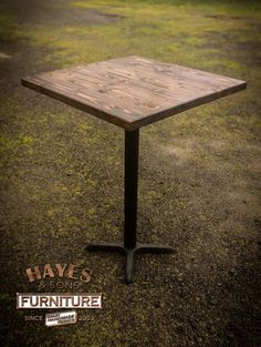 Rustic Bistro Pub Bar Restaurant Pedestal Table