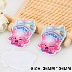 50pcs/lot New Kawaii Cartoon Shopkins Flatback Resins DIY Resin Crafts Planar Resin for Home Decoration Accessories DL-458