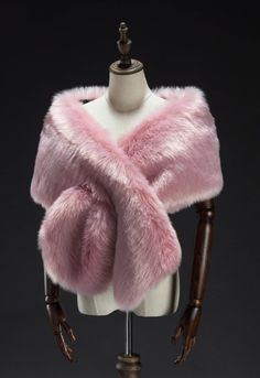 Signature by Robbie Bee Faux Fur Shrug Gray NWT Add little luxury to your eve. Fashion Moda, Fur Fashion, Pink Fashion, Winter Fashion, Fashion Outfits, Faux Fur Shrug, Faux Fur Wrap, Pink Faux Fur, Pink Outfits