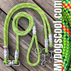 Two Dog Coupler & Leash with HD Swivel. Handmade in USA with climbing rope and stainless steel clips, or carabiners. Two Dogs, Large Dogs, Rope Dog Leash, Too Close For Comfort, Climbing Rope, Italian Greyhound, Kind Words, Stainless Steel, Usa