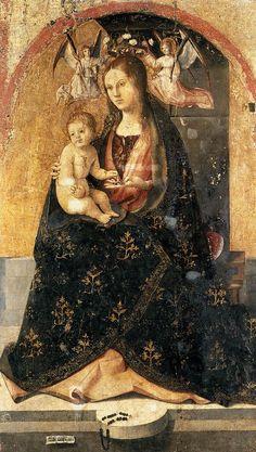 Antonello_da_Messina_-_Madonna_and_Child_-_WGA007501473.jpg Мадонна с Младенцем, фрагмент полиптиха, ок. 1473