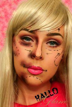 Barbie Doll Costume Wig #Long #Blonde #Bangs #Fringe #Hair #Hairpiece #Halloween #Horror #Plastic #Cosmetic #Surgery #MakeUp