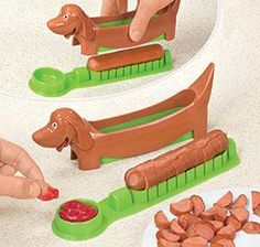 if you ever had a baby. Or if you just want to eat your hot dogs like this. :) Doxie Hotdog Slicer....for the kids
