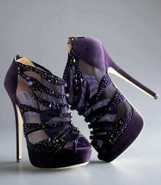 purple shoes- alexis