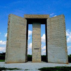 Georgia Guidestones aka GA's Stonehenge is located in Elberton!