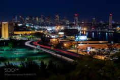 Boston at night by d1224m