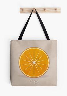 Orange (taupe) - Natural History Fruits | Tote Bag by RedHillPrints