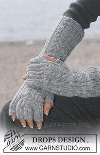 "DROPS Lange Fingerhandschuhe in ""Alpaca"" mit kurzen Fingern ~ DROPS Design"