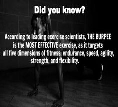 Burpees are the most effective exercise..... 30/day keeps the thunder thighs away?