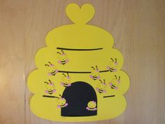 Pin the bee in the Hive game bees and hive die cuts by ScrapStarz