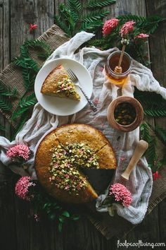 Semolina Cake with Pistachios and Honey