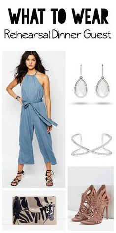Love this wide-legged denim jumpsuit. Wear it as a guest for your friend's wedding and then more all summer long. Check out these picks from contributing stylist @Elaine Yu | Simply Chic Styling and all her shopping resources.