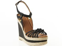 Super cute!  and fun for summer!    Qupid Braided Jute Platform Wedge from Serena Williams on OpenSky