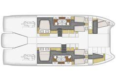 Fountaine Pajot Motor Yachts - power catamaran - luxuary yacht - low consumption power boats - voyager - long cruise catamaran