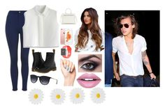"""#DayWithHarryStyles 3"" by since02 on Polyvore featuring Topshop, Chicwish, Dr. Martens, Ray-Ban, Fiebiger, Victoria Beckham and Accessorize"