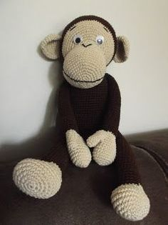 Free Crochet monkey but has to be translated Crochet Gratis, Crochet Amigurumi, Amigurumi Patterns, Crochet Dolls, Crochet Monkey, Love Crochet, Crochet Baby, Knit Crochet, Crochet Animal Patterns
